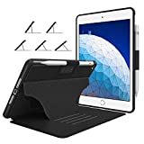 Soke Case - iPad Air 3 Case 10.5' 2019 (3rd Generation), [Luxury Series] Extra Protective But Slim Cover with Pencil Holder and Strong Magnetic, 5 Convenient Stand Angles, Auto Sleep/Wake, (Black)