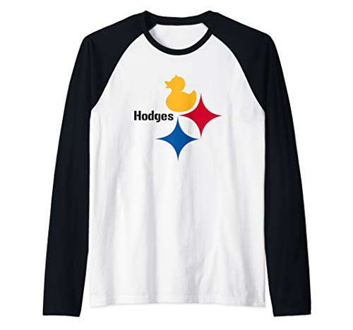 Duck Hodges Dynasty Logo Tee for Pittsburgh Football Fans Raglan Baseball Tee