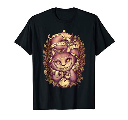 CHESHIRE T SHIRT CAT HALLOWEEN ()