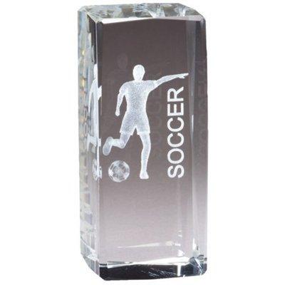 Order Fast Awards Female Soccer Jr Collegiate Crystal Hologram Award 4.5