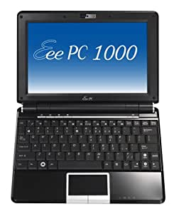 ASUS Eee PC 1000 10-Inch Netbook (1.6 GHz Intel Atom N270 Processor, 1 GB RAM, 40 GB Solid State Drive, 20 GB Eee Storage, Linux, 6 Cell Battery) Fine Ebony