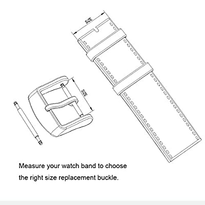 Watch Bands Straps Replacement Buckle Wellfit Watch Watchband Clasp - Choice of Color and Size - Vacuum PVD Finish from Wellfit