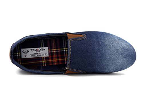 Herren Slipper Mokassins, Denim Jeans 05 Gr. 40-44