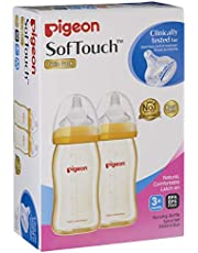 Pigeon Softouch Tm Peristaltic Plus Wn Ppsu Nursing Bottle, 240ml, Medium, Twin Pack (Packaging may vary)