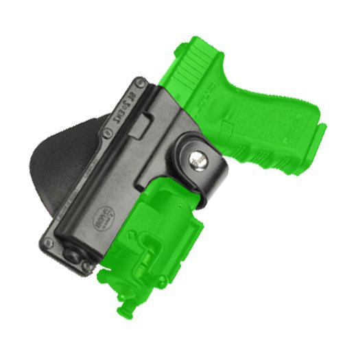 (Fobus Roto Tactical Speed Holster Paddle Left Hand GLT19RPL Glock 19,23,32 / S&W 99 Compact/ M&P Compact holds Handgun with Laser or Light)