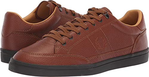 Fred Perry Men's Deuce Premium Leather Sneaker tan 12 D UK (13 (Best Fred Perry Mens Sneakers)