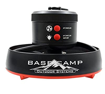 BaseC& F235100 Tent Fan with LED Light  sc 1 st  Getc&ingwild.com & 10 Best Tent Fan for Camping Review (March 2018) - GetCampingWild