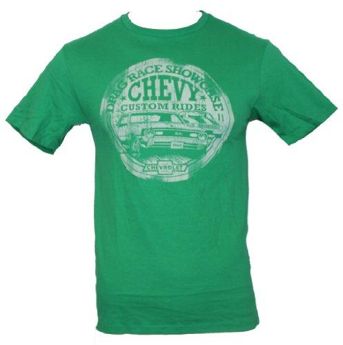 Chevy Chevrolet Mens T-Shirt - 1968 Drag Race Showcase Custom Rides 1968 (Medium) Green