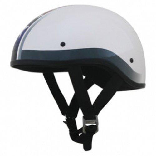 AFX FX-200 Unisex-Adult Half-Size-Helmet-Style Slick Beanie-Style Half Helmet (S Star Flat White, X-Large)