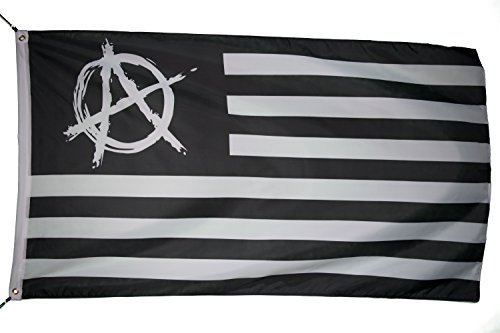 US Anarchy Flag Banner 3x5