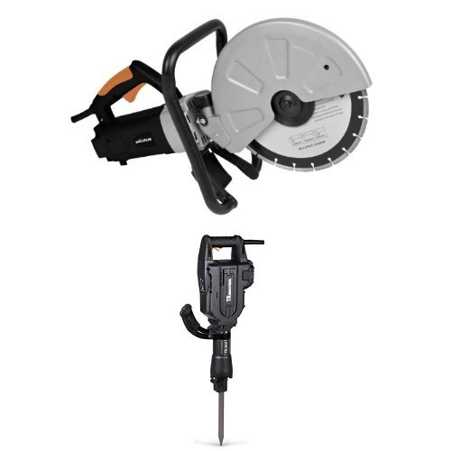 Evolution DISCCUT1 12-Inch Disc Cutter with TR Industrial TR89305 60 Joules Electric Jack Hammer