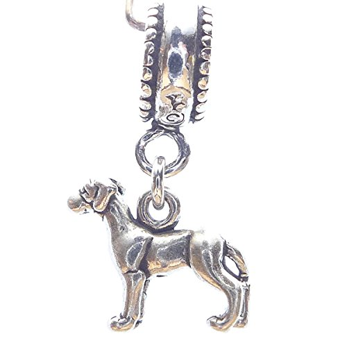 (Great Dane Smaller Sterling Silver Dangle Dog Charms)
