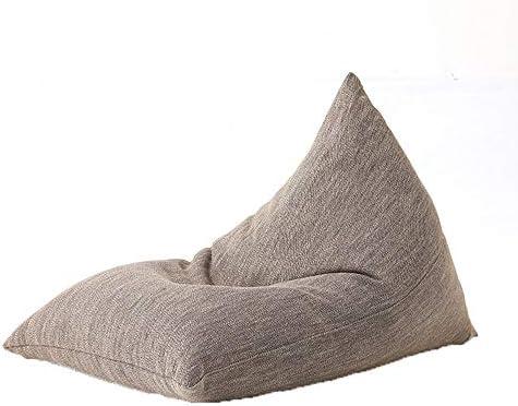 ソファー 怠惰なソファクリエイティブエスニックスタイルシングルチェアベッドリビングルームバルコニーカジュアルビーンバッグ小さなアパート畳取り外し可能と洗える A+ (Color : Brown72x100cm)