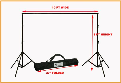ePhoto Photography Video Backdrop Background Heavy Duty Support Stand with Case for Chromakey or Muslin by ePhotoInc H30 by ePhotoInc