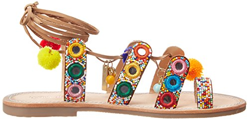 Les Tropéziennes par M. Belarbi Orea, Sandalias con Correa de Tobillo para Mujer Multicolor (Multi)