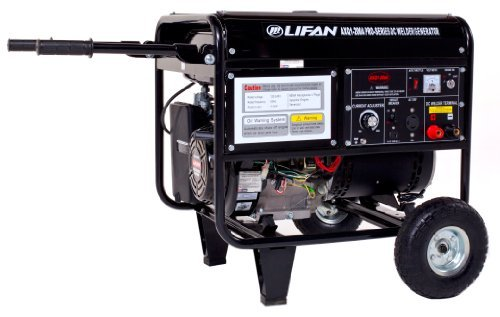 Lifan Pro Series WeldPro AXQ1-200a, 4000 Running Watts/4500 Starting Watts, Gas Powered Portable Generator, with 200 Amp Welder Combo ()