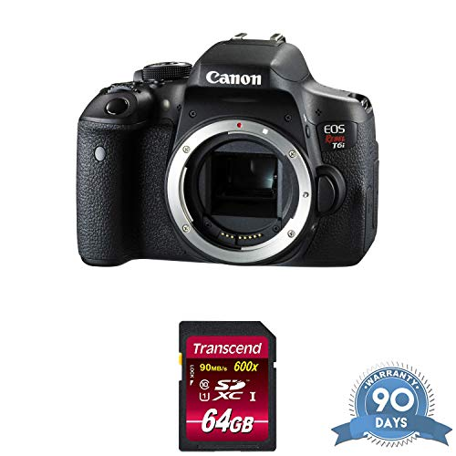 - Canon EOS Rebel T6i DSLR Camera (Body Only) with Memory Card - (Renewed)