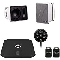 Kicker KB6000 White Outdoor Speakers with DUB 480 Watt Amplifier & MB Quart N1-WBT Bluetooth Receiver/Controller