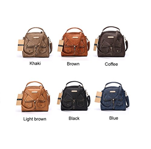 Annmouler Brand Women Messenger Bag Female Double Zipper Handbag Pu Leather