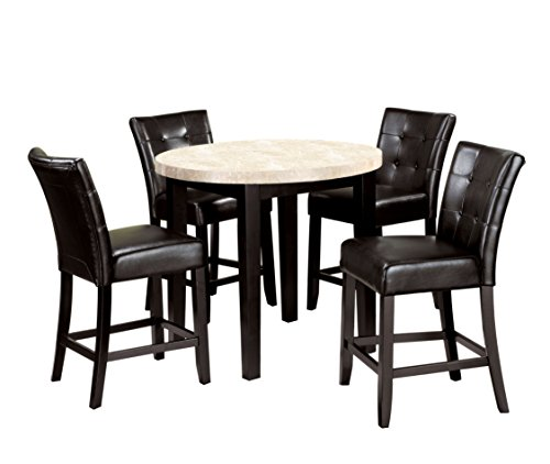 HOMES: Inside + Out IDF-3866PT-40-5PC Glynn 5 Piece Counter Height Dining Set