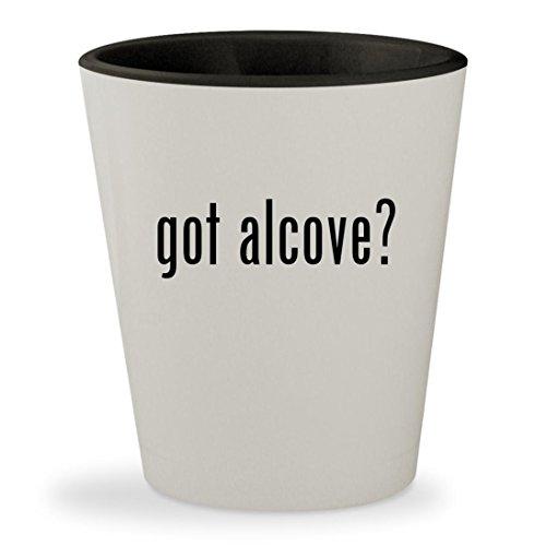 got alcove? - White Outer & Black Inner Ceramic 1.5oz Shot - Maax Tubs Air