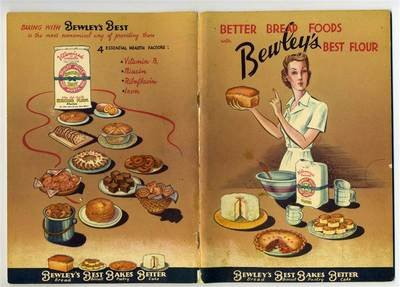 Better Bread Foods Cookbook with Bewley's Best Flour 1930's - Wagon Refrigerator