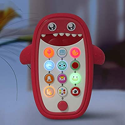 Sommer Children Music Toy Baby Phone with Removable Soft Case, Lights and Adjustable Volume - Play and Learn for Toddlers 18+ Months (red): Toys & Games