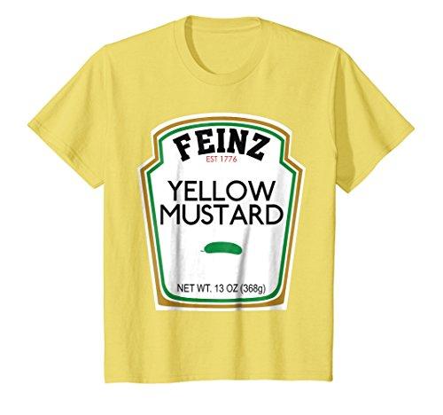 Kids Mustard Matching Best Friend Halloween Costume T-Shirt 4 Lemon