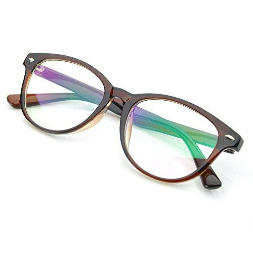 PenSee Horn Rimmed Style Clear Lens Glasses Original Wayfarer Eyeglasses - Eyeglasses Wayfarer Original
