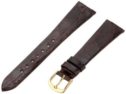 Hadley-Roma Men's MSM821RB-190 19-mm Brown Genuine Caiman Crocodile Leather Watch Strap ()