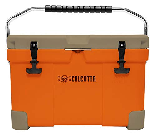 - Calcutta Limited Edition Renegade 20 Liter / 21 Quart Cooler with Drain Plug Light - Orange/Tan