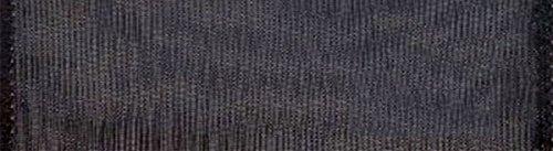 (Morex Ribbon 91605/25-613 Wired 1-Inch Chiffon Ribbon with 25-Yard Spool, Black)