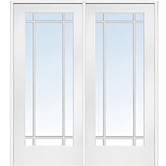 National Door Company Z009312r Primed Mdf 9 Lite Clear Glass Right Hand Prehung Interior Double