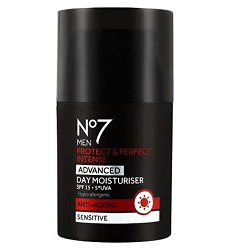 No7 Men Protect & Perfect Intense Advanced Day Moisturiser Spf15 - Pack of 2