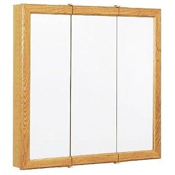 ZENITH PRODUCTS K24 Oak Frame Triview Medicine Cabinet Body, 23 3/4u0026quot;