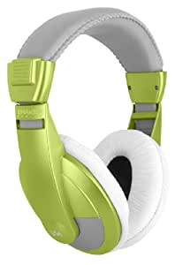 VM Audio SRHP15 Stereo MP3/iPhone iPod Over the Ear DJ Headphones - Lime Green