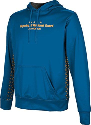 Men's Wyoming Air National Guard Military Geometric Hoodie Sweatshirt (Apparel)