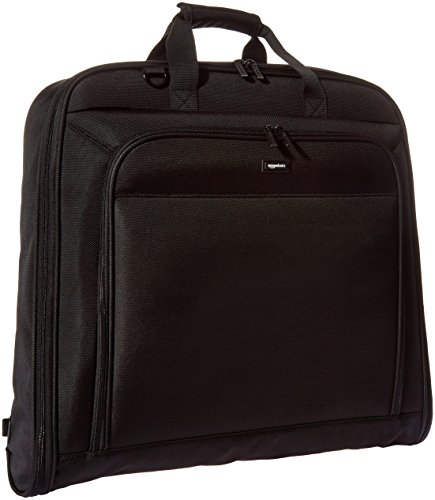 Mesh Tri Fold Garment Bag - AmazonBasics Premium Travel Hanging Luggage Suit Garment Bag - 40 Inch, Black