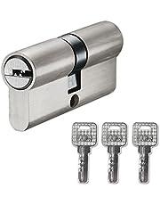 Sluitcilinder, 30/30 met 3 sleutels, dubbele profielcilinder, cilinderslot, reserve-accessoires, slotcilinder gelijksluitend, deurslot veiligheidsslot huisdeur