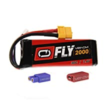 Venom Fly 30C 2S 2000mAh 7.4V LiPo Battery with Universal 2.0 Plug (XT60/Deans/EC3) for RC Airplane and Helicopter