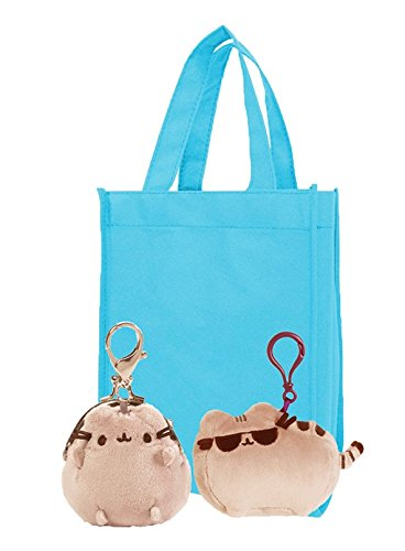 "Pusheen Coin Purse and Sunglasses Pusheen | 4.5"" Pusheen Plush Sunglasses Backpack Clip and 3"