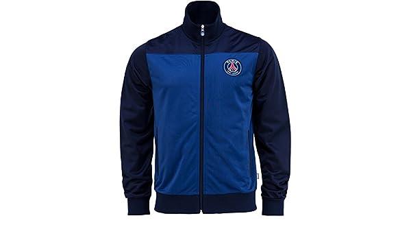 Paris Saint Germain - Chaqueta oficial para hombre, talla de adulto, con cremallera, Hombre, azul, small: Amazon.es: Deportes y aire libre