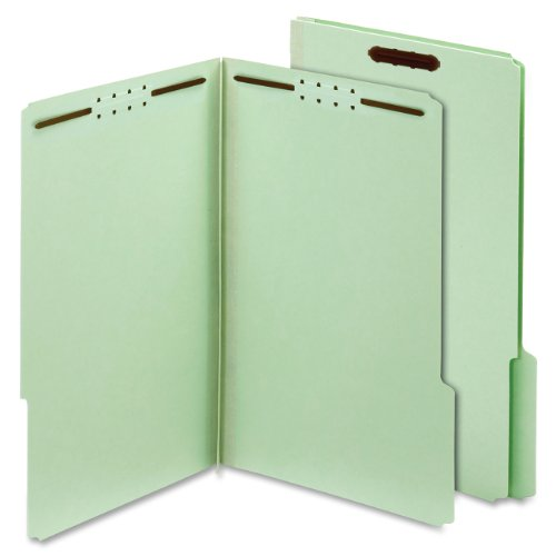 UPC 078973299349, Globe-Weis Pressboard Folders with Fasteners, 2-Inch Expansion, 2-Inch Fasteners, 1/3 Cut Tabs, Legal Size, Green, 25-Count (29934)