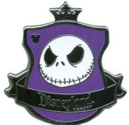 Disney Nightmare Before Christmas Jack Skellington Crest Pin