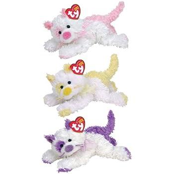 Amazon.com  Ty Beanie Babies Violetta - Kitten  Toys   Games 9089a09d6642