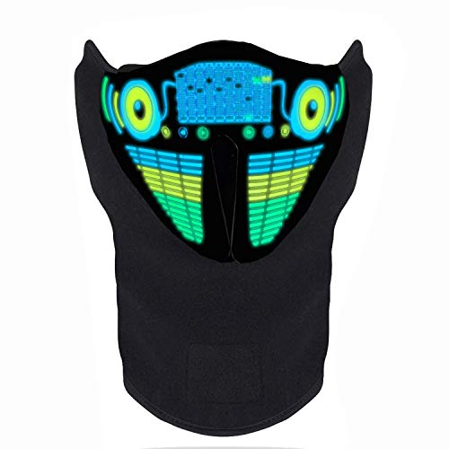 Sound Activated Mask - FEIYOLD LED Halloween Mask, Sound Activated