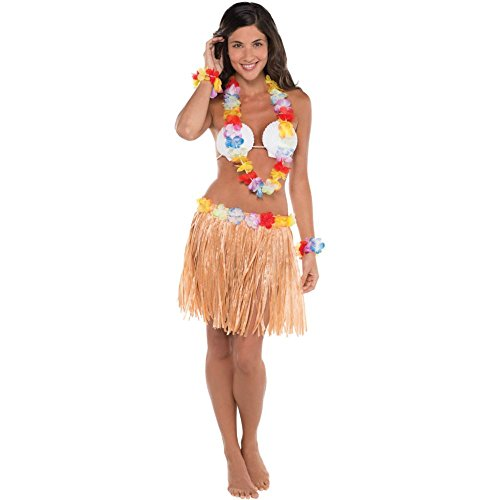 Adult Natural Hula Skirt Kit 5pc