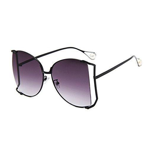 Quadratischen C7 KXLEB Linse Rahmen Frauen Für Übergroßen Klare Uv400 Perle Sonnenbrille Sonnenbrille C9 Dekoration Große Frauen ZqzZXrxw5