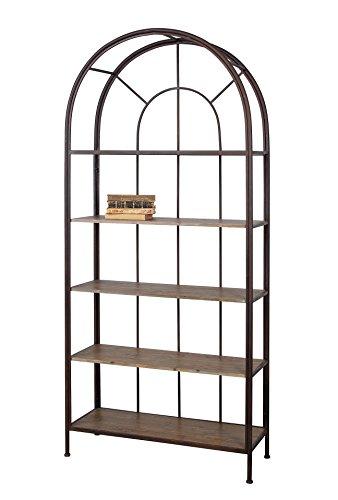Creative Co-op Metal Framed Bookshelf with 5 Wood Shelves