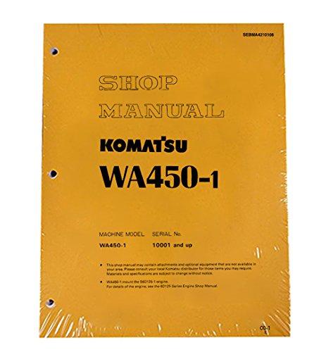 Komatsu WA450-1 WA450-1L Wheel Loader Workshop Repair Service Manual Part Number # SEBDA4210108